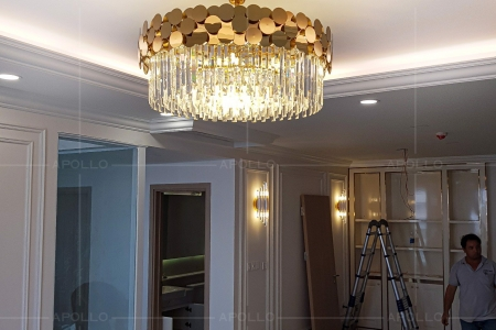 Đèn chùm pha lê Luxury