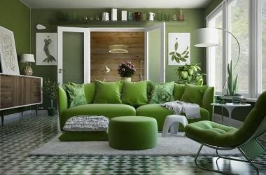 10 ý tưởng trang trí phòng khách màu xanh mát mắt