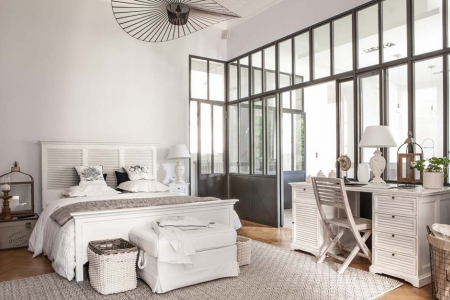 Giường 160x200 bằng gỗ vân sam trắng